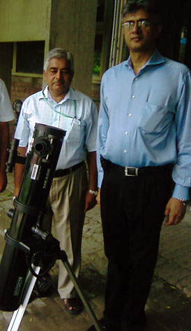 KSS receives donation of telescope