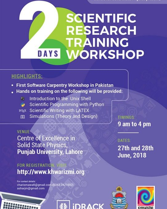 Scientific Research Training Workshop