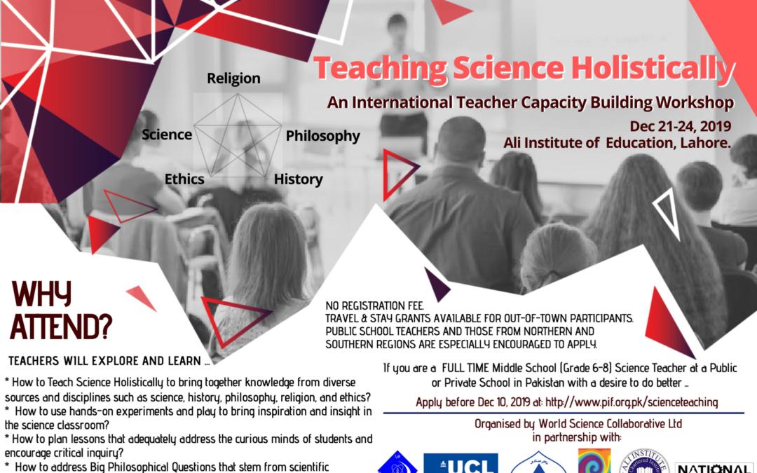 Holistic Science Teaching Workshop 2019