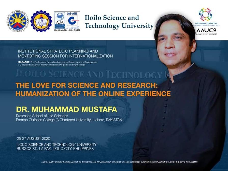 Dr. Muhammad Mustafa speaks at Iloilo Science and Technology University