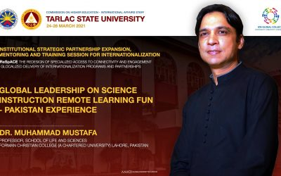 Dr Muhammad Mustafa gives a talk on Remote Learning at Tarlac State University