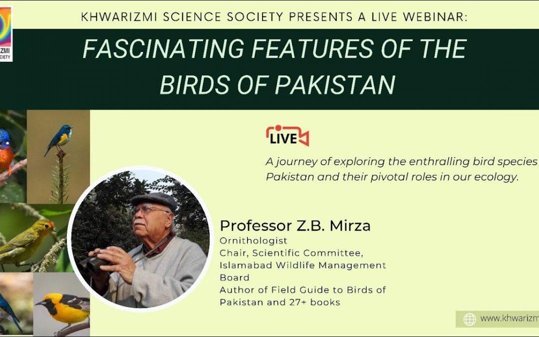 Birds of Pakistan – A webinar with Prof. Z. B. Mirza